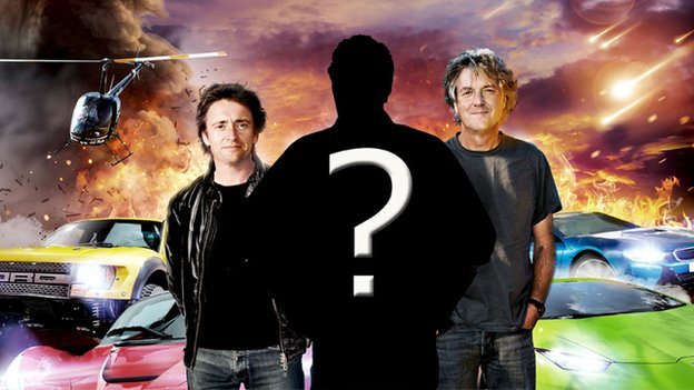 Top Gear line-up with Jeremy Clarkson obscured