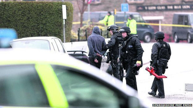 Armed police dealt with the incident