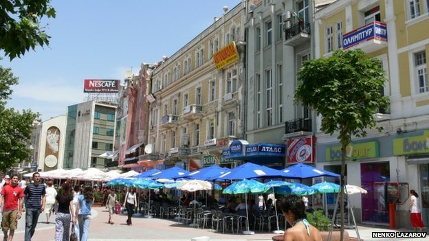 A street in central Plovdiv
