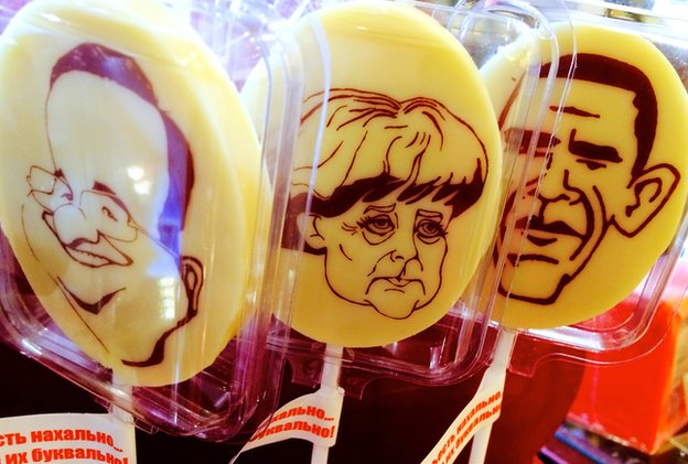 Russian lollypops modelled on Western heads of state