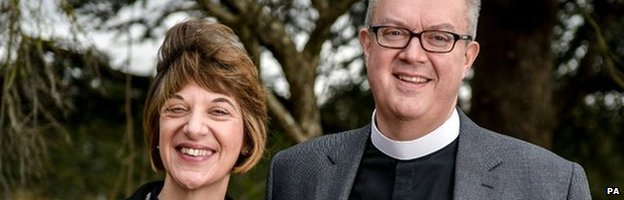 Archdeacon Treweek with her husband, Guy