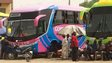 Bus station in Sabon Gari in Kano, Nigeria