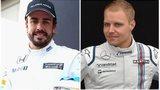 Fernando Alonso and Valtteri Bottas