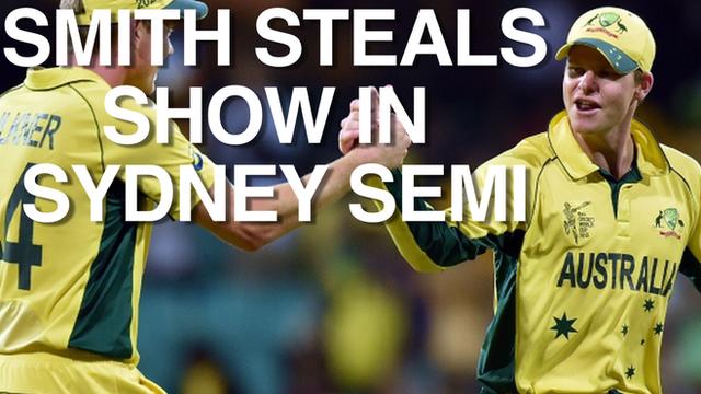 Steven Smith (right) stars as Australia beat India