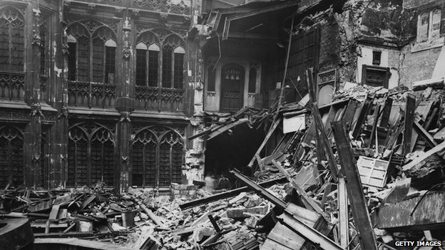 House of Commons bomb damage