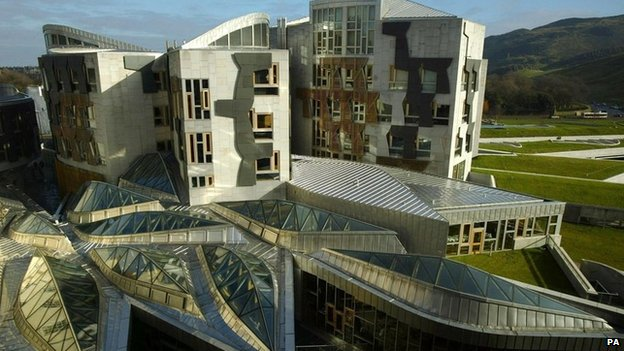Scottish Parliament building Edinburgh
