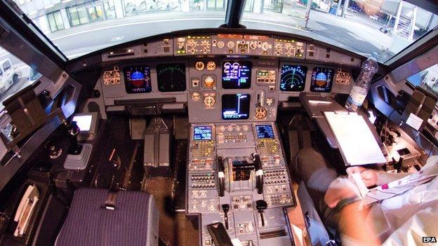 Interior view of cockpit