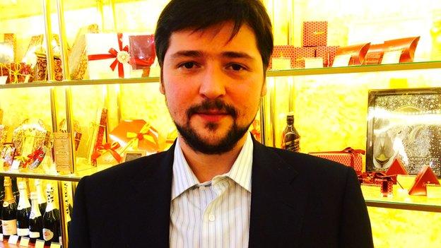 Roman Eldarkhanov, co-owner of Confael chocolates