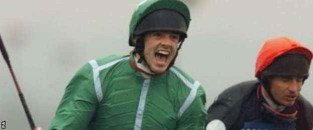 Ruby Walsh after winning the Grand National on Papillon