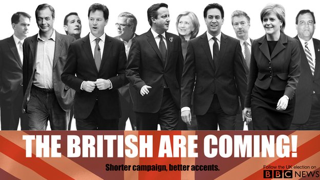 British politicians take centre stage in April.