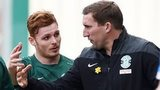 Alan Stubbs (centre right) with Fraser Fyvie