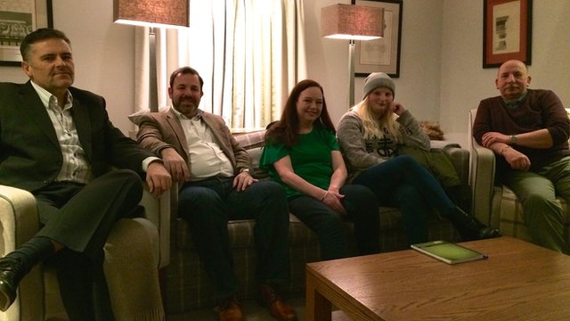 From left to right, Kevin Cooke, Paul Barton, Lisa Gaughan, Fay Brammer, Fred Hyde