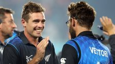 New Zealand's Tim Southee and Daniel Vettori