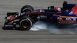 Max Verstappen of Netherlands and Scuderia Toro Rosso locks up during practice
