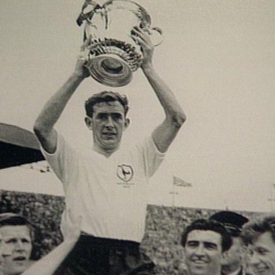 Danny Blanchflower with Spurs trophy