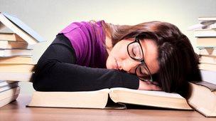 Falling asleep while studying