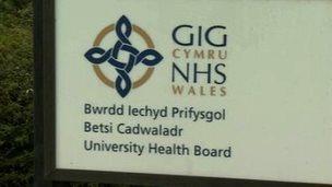 Health board sign