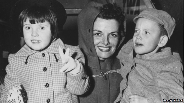 Jane Russell with son Thomas and daughter Tracy
