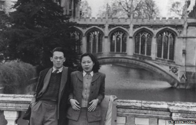 Picture of Mr Lee Kuan Yew and his wife Kwa Geok Choo in Cambridge when they were students