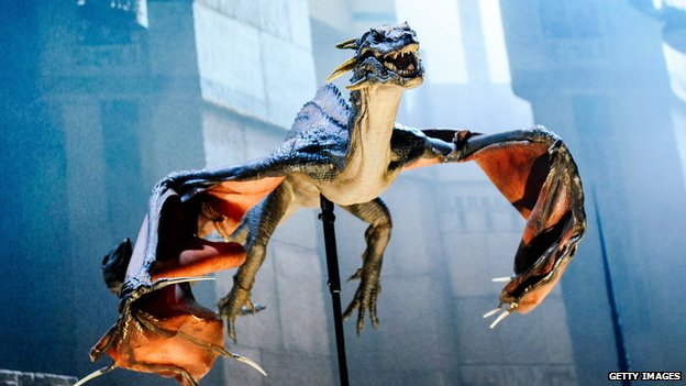 A model of Rhaegal, one of the dragons from Game of Thrones