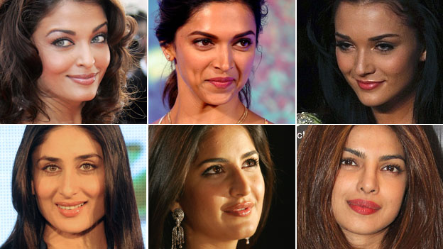 Composite picture of Amy Jackson and five other female Bollywood stars