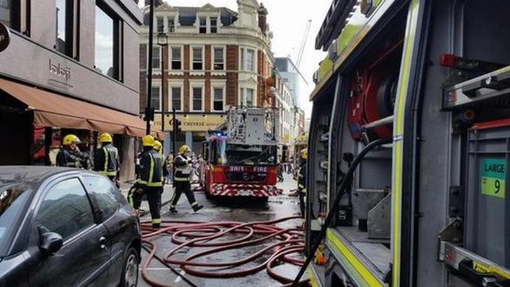 Shaftesbury Avenue fire
