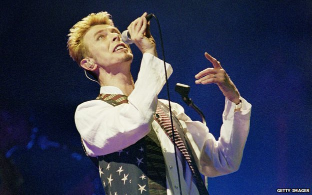 David Bowie performing in 1997