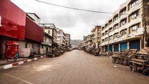 Empty street in Freetown