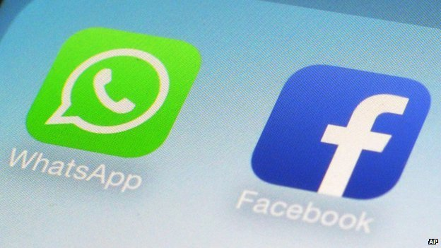 WhatsApp and Facebook app icons