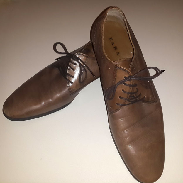 Huthaifah's shoes