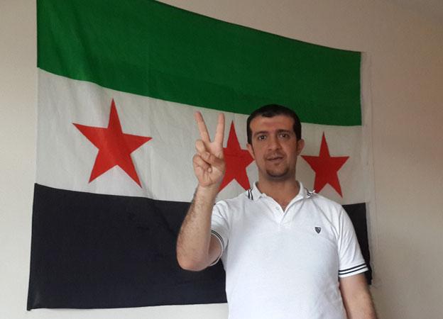 Huthaifah and revolutionary flag