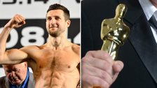 Carl Froch and an Oscar trophy
