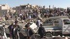Aftermath of Saudi-led airstrikes in Yemen