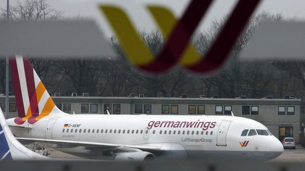 German low-cost carrier Germanwings is pictured on the tarmac at Berlin Tegel airport