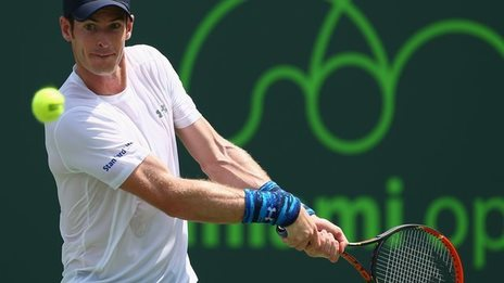 Andy Murray at the Miami Open