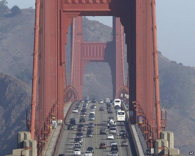 San Francisco Golden gate bridge 19 September 2013