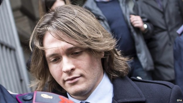Raffaele Sollecito leaves Italy's highest court building in Rome, Italy, 27 March 2015