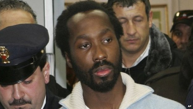 Rudy Guede in Italian custody, 6 December 2007