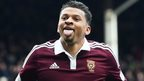 Delight for Osman Sow after putting Hearts in front