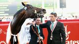 Michael Owen and Tom Dascombe with Brown Panther
