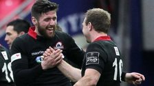 Edinburgh celebrate beating Scarlets