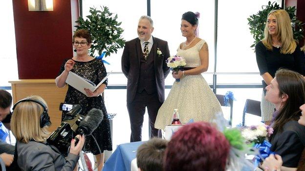 Wedding celebrated amid media attention