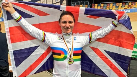 Dame Sarah Storey after winning the C5 3km pursuit at the Para-cycling World Championships in the Netherlands.