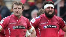 Hadleigh Parks and Rory Pitman at the final whistle against Edinburgh