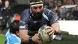 Scott Baldwin scores for Ospreys against Zebre