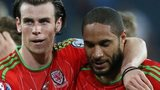 Gareth Bale and Ashley Williams of Wales