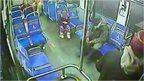 Little girl on bus