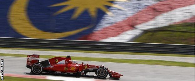 Sebastian Vettel driving