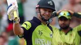 Ireland captain William Porterfield acknowledges his century