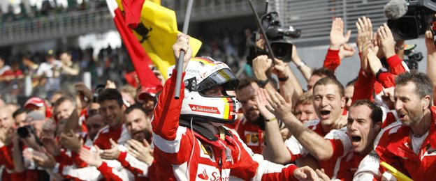 The win was Ferrari's first since 2013